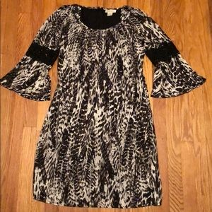 Ariat leopard print dress with lace detail